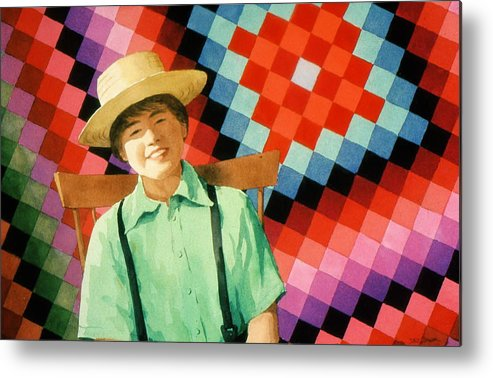 Amish Metal Print featuring the painting Sam by Faye Ziegler
