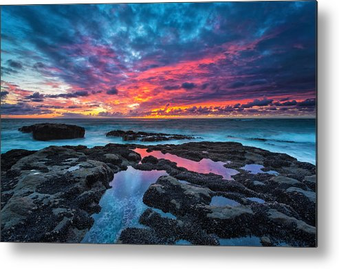 Sunset Metal Print featuring the photograph Serene Sunset by Robert Bynum