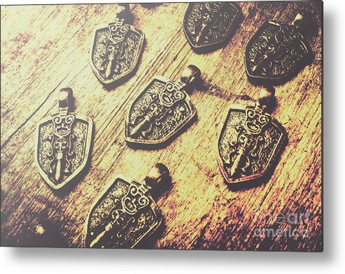 Shield Metal Print featuring the photograph Shields Of Knighthood by Jorgo Photography - Wall Art Gallery