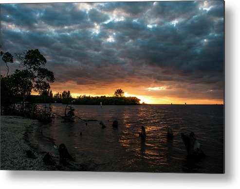 Sunsets Metal Print featuring the photograph Simmons Sunset by Norman Johnson