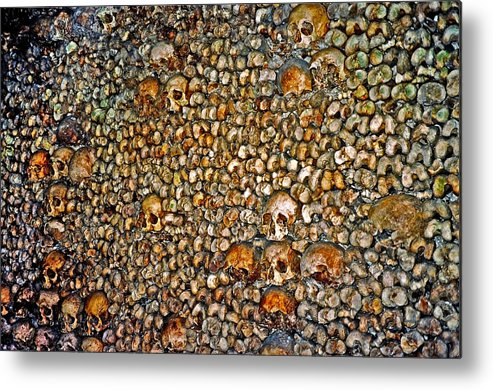 Skulls Metal Print featuring the photograph Skulls and Bones under Paris by Juergen Weiss