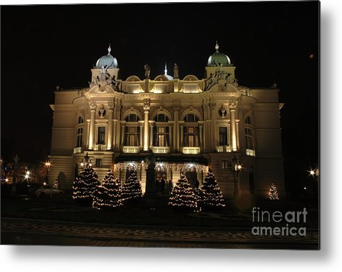 Cracow Metal Print featuring the photograph Slowacki Theatre by Marta Grabska