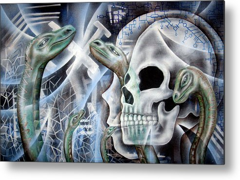 Snake  Metal Print featuring the painting Snake Creation by Leigh Odom