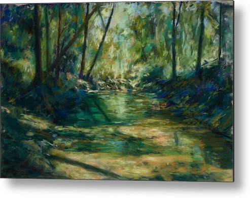 Green River Metal Print featuring the painting Somewhere Near Austin by Billie Colson