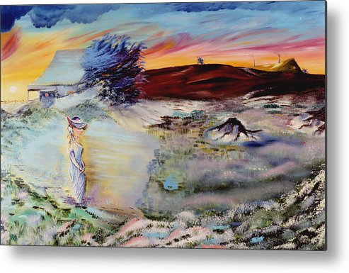 Prints Metal Print featuring the painting Southern Nights by Richard Barham
