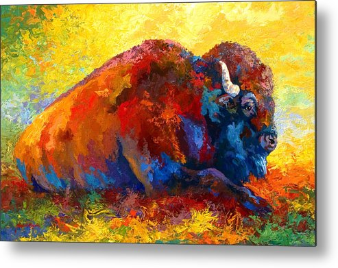 Wildlife Metal Print featuring the painting Spirit Brother by Marion Rose