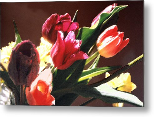 Floral Still Life Metal Print featuring the photograph Spring Bouquet by Steve Karol