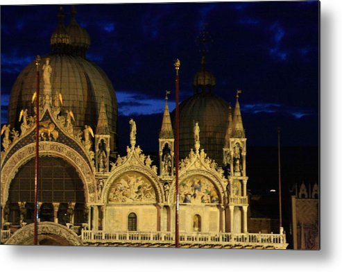 Venice Metal Print featuring the photograph St. Mark's Basilica at Sunrise by Michael Henderson