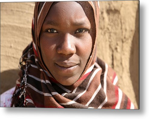 Sudan Metal Print featuring the photograph Sudanese girl by Marcus Best