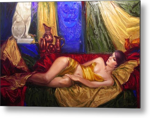 Art Metal Print featuring the painting Sultan Spouse by Sergey Ignatenko