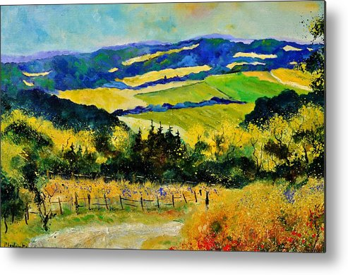 Landscape Metal Print featuring the painting Summer Landscape by Pol Ledent