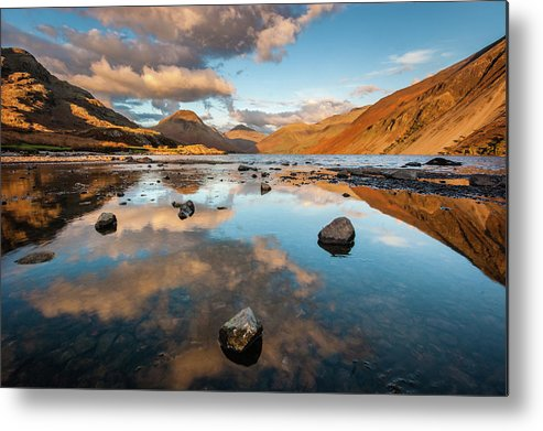 Sunrise Metal Print featuring the photograph Sunset at Wast Water #3, Wasdale, Lake District, England by Anthony Lawlor