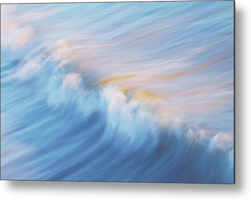 Wave Front Metal Print featuring the photograph Surf Break at Pismo Beach, California by Zayne Diamond Photographic