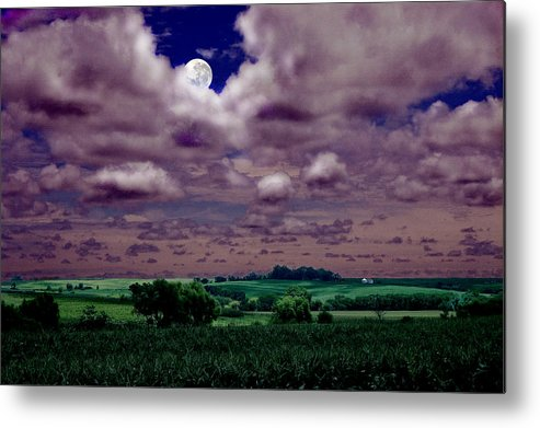 Landscape Metal Print featuring the photograph Tarkio Moon by Steve Karol