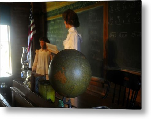 1800s Metal Print featuring the photograph Teaching Globe by David Lee Thompson