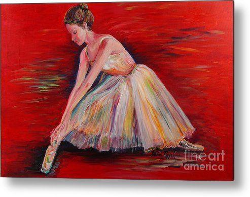 Dancer Metal Print featuring the painting The Dancer by Nadine Rippelmeyer