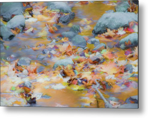 Abstracts Metal Print featuring the photograph The Lightness of Autumn by Marilyn Cornwell