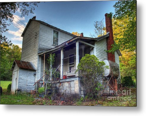 Landscape Metal Print featuring the photograph The Old Home Place by Pete Hellmann