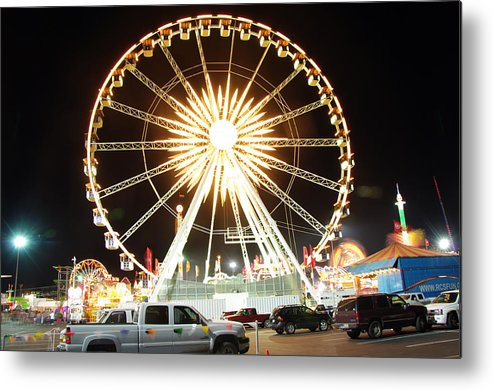 State Fair Metal Print featuring the photograph The Wheel by Kenneth Hess