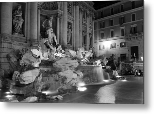 Trevi Fountain Metal Print featuring the photograph Trevi Fountain Night 2 by Andrew Fare