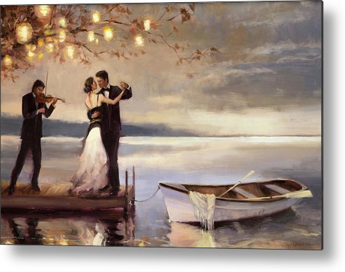 Romantic Metal Print featuring the painting Twilight Romance by Steve Henderson