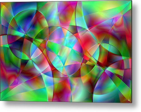 Colors Metal Print featuring the digital art Vision 27 by Jacques Raffin