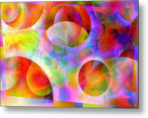 Colors Metal Print featuring the digital art Vision 29 by Jacques Raffin