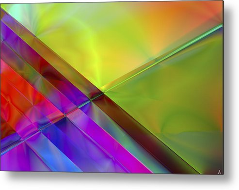 Colors Metal Print featuring the digital art Vision 3 by Jacques Raffin