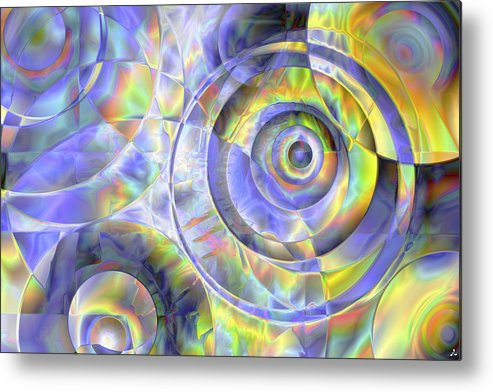 Colors Metal Print featuring the digital art Vision 37 by Jacques Raffin