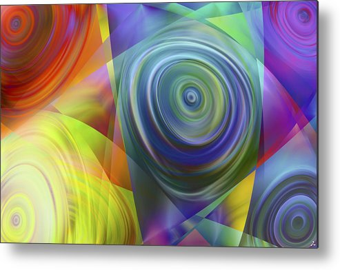 Colors Metal Print featuring the digital art Vision 39 by Jacques Raffin