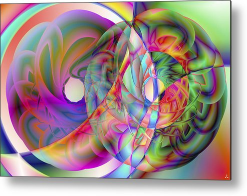 Crazy Metal Print featuring the digital art Vision 41 by Jacques Raffin