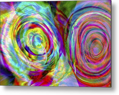 Crazy Metal Print featuring the digital art Vision 44 by Jacques Raffin