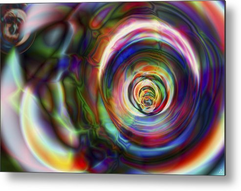 Crazy Metal Print featuring the digital art Vision 8 by Jacques Raffin