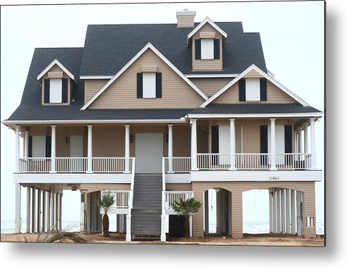 House Metal Print featuring the photograph W Beach House by David Houston