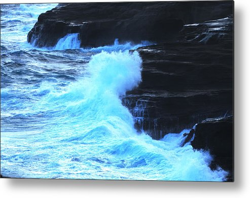 Ocean Metal Print featuring the photograph Where The Land Meets The Ocean by Richard Henne
