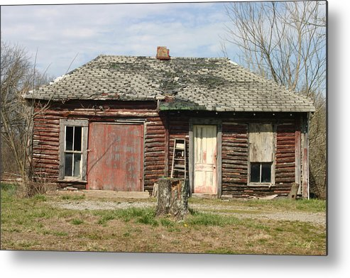 Metal Print featuring the photograph Winslow Cabin by Curtis J Neeley Jr