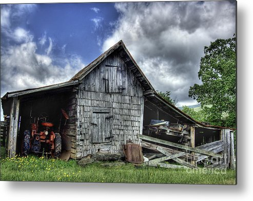 Landscape Metal Print featuring the photograph Work is all done by Pete Hellmann