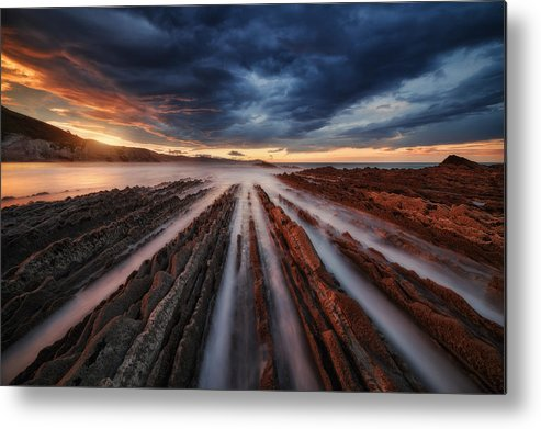 Landscape Metal Print featuring the photograph Zumaia Flysch 6 by Juan Pablo De
