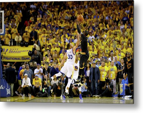 Playoffs Metal Print featuring the photograph 2016 Nba Finals - Game Seven by Ezra Shaw