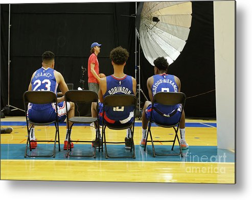 Jerome Robinson Metal Print featuring the photograph 2018 Nba Rookie Photo Shoot by Michelle Farsi