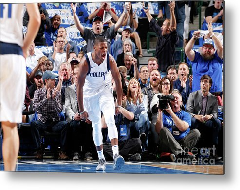 Nba Pro Basketball Metal Print featuring the photograph Atlanta Hawks V Dallas Mavericks by Glenn James