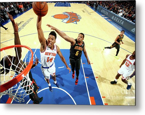 Nba Pro Basketball Metal Print featuring the photograph Atlanta Hawks V New York Knicks by Nathaniel S. Butler