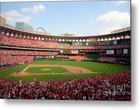St. Louis Cardinals Metal Print featuring the photograph Baseball - Mark Mcgwire by Icon Sports Wire