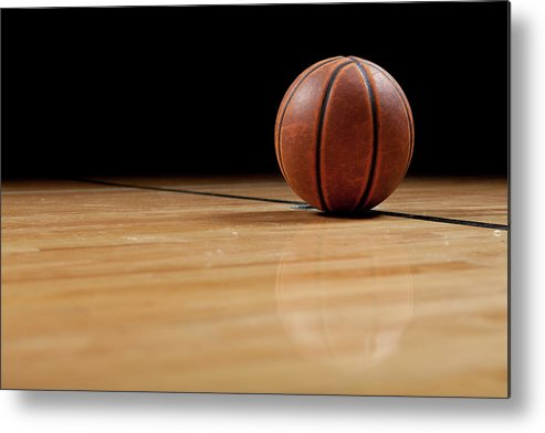 Ball Metal Print featuring the photograph Basketball by Garymilner