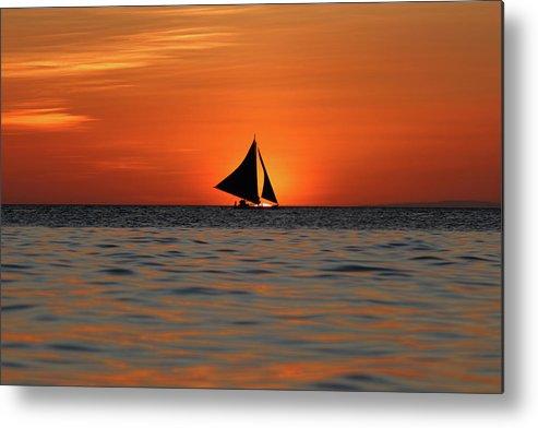 Scenics Metal Print featuring the photograph Beautiful Sunset by Vuk8691