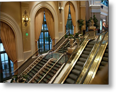 Arch Metal Print featuring the photograph Bellagio Interior by Mitch Diamond