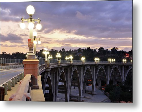 Arch Metal Print featuring the photograph Bridge At Sunset by S. Greg Panosian