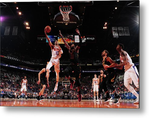 Nba Pro Basketball Metal Print featuring the photograph Cleveland Cavaliers V Phoenix Suns by Barry Gossage
