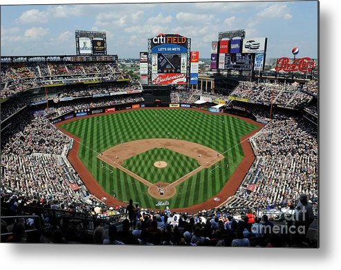 Citi Field Metal Print featuring the photograph Colorado Rockies V New York Mets by G Fiume