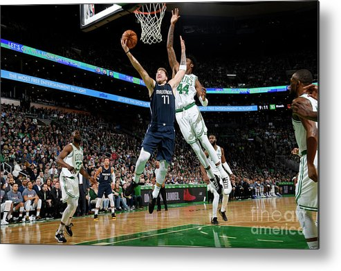 Nba Pro Basketball Metal Print featuring the photograph Dallas Mavericks V Boston Celtics by Brian Babineau